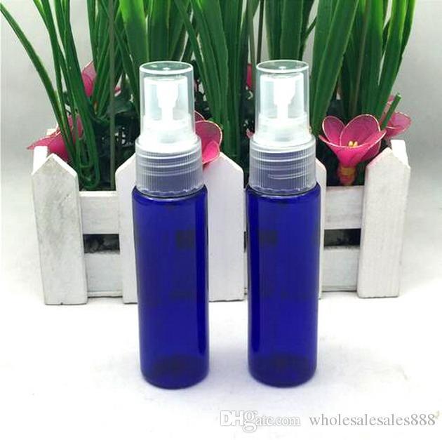 Parfüm Şişesi Boş Plastik Güzel Mist Sprey Şişe 1 oz Pompa Doldurulabilir Kozmetik Parfüm Atomizer Esansiyel Yağlar için Mükemmel 30ML (Mavi)
