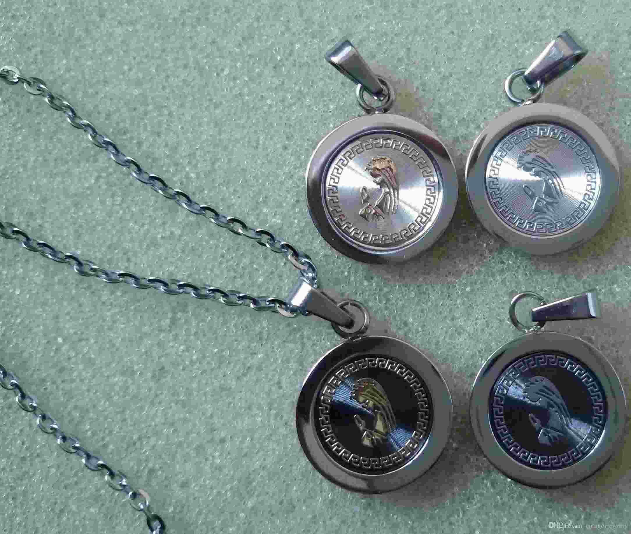 Кулон ожерелья Южноамериканский новое прибытие нержавеющая сталь 316L Господь Мария Христос проповедь статуя 14 мм маленький круглый меня