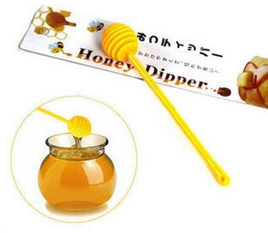 سيليكون العسل قحافة عسل ملعقة حلوى لون العسل عصا اثارة قضيب أدوات المطبخ 17 سم