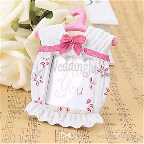 Free Shipping!40pcs Cute Baby Themed Photo Frame Favors Girl Baby Birtherday Favor Place Card Holder