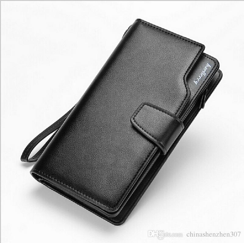 2016 Новый мужчины кошельки кошелек повседневная мужчины клатч кожаный дизайн длинный кошелек подарок для мужчин 70