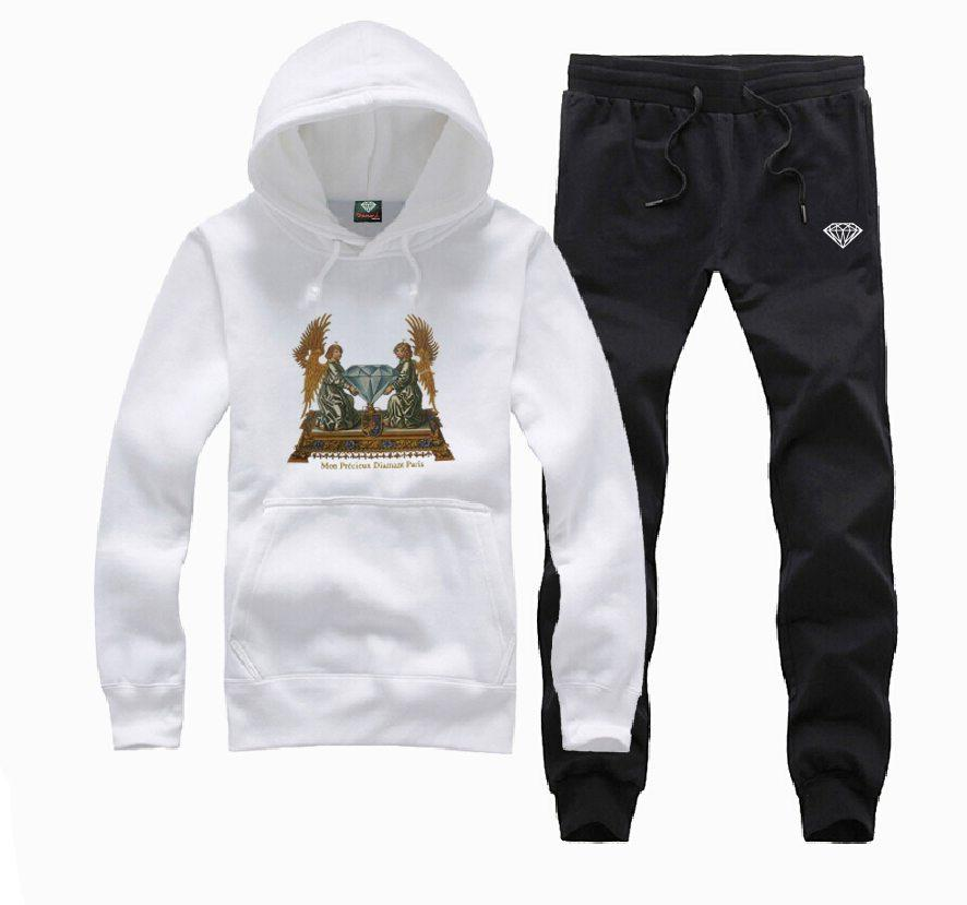 s-5xl G185 free shippinmg new style o-neck hip hop Diamond Supply sweat suit Fashion Autumn Mens Tracksuits