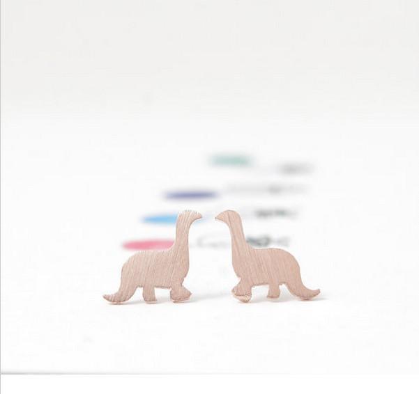 Fashion dinosaur stud earrings 18K Gold Plated/silver plated/rose gold plated stud earrings wholesale free shipping