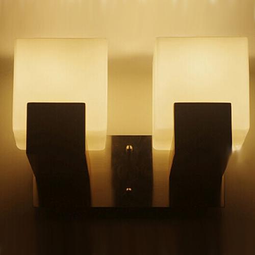Einfache Arandelas Modern Holz Glas-Leuchter LED Wandleuchten für Haus Schlafzimmer Nachtwandleuchte Innenbeleuchtung Lamparas Pared