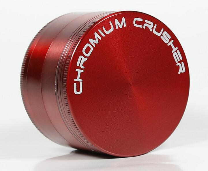 DHL gratuit CHROMIUM CRUSHER logo 40mm 4 parties moulin à herbes en alliage de zicn