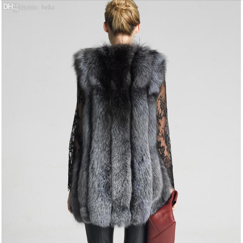 도매 - 새로운 디자인 2016 패션 겨울 여성 모피 조끼 가짜 여우 모피 코트 여자 외투 모피 조끼 자켓 여성 숙녀 오버 코트 크기 S-XXXXL