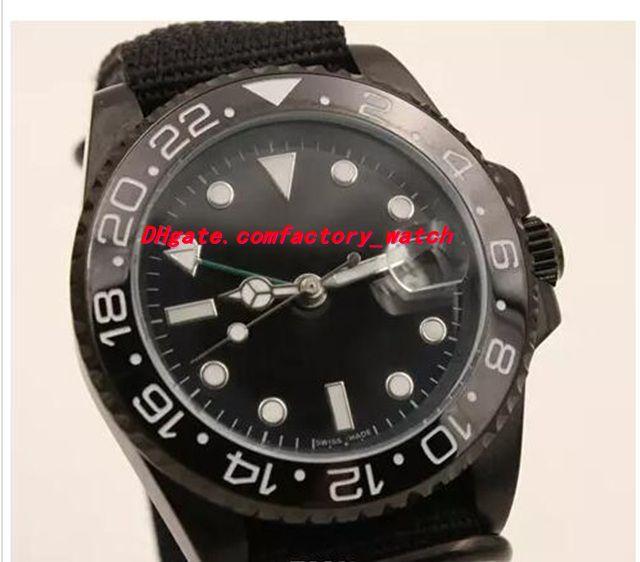 Top Quality Luxury Automatic Movement 116710 40mm Ceramic Bezel BATMAN PVD Coating Black Nylon Bracelet Mechanical Men Watches New Arrival