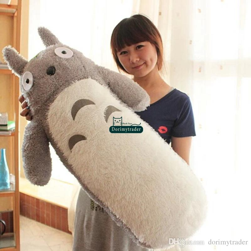 Dorimytrader Top 39'' / 100cm Lovely Big Stuffed Soft Plush Cute Giant Cartoon Anime Totoro Pillow Toy Nice Baby Gift Free Shipping DY60057