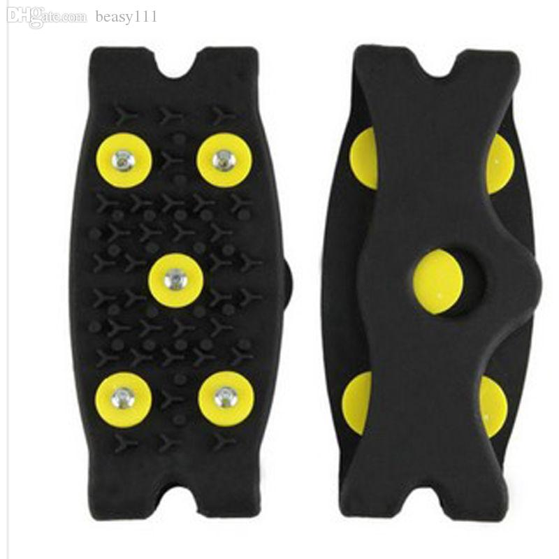 Wholesale-Snow Ice Climbing Anti Slip Spikes Grips Crampon Cleats 5-Stud Shoes Cover