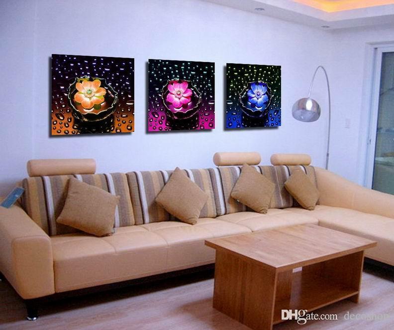 Moderna Bela Flor Fina Pintura Floral Giclee Impressão Na Lona Home Decor Wall Art Set30281