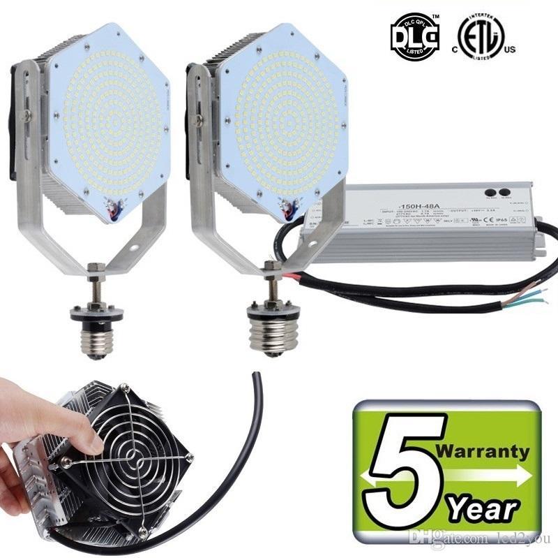 DLC UL levou kits de retrofit lâmpada de base SMD3030 100 W 120 W 150 W metal halídico pacote de parede Shoebox luz de rua substituição AC 85-277 V