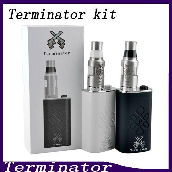 Terminator Box Mod Starter Kit Terminator Mods Bottom Feeder 18650 Battery 510 Thread Firing Button Vs Lucifer Box Mod Kbox 120W 0211199-2