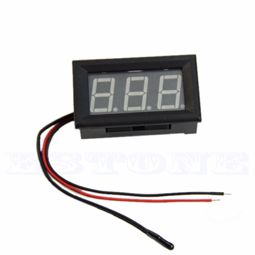 Wholesale--50 - 110 degree Digital LED Thermometer DC 5-12V Car Temperature Panel Meter Gauge