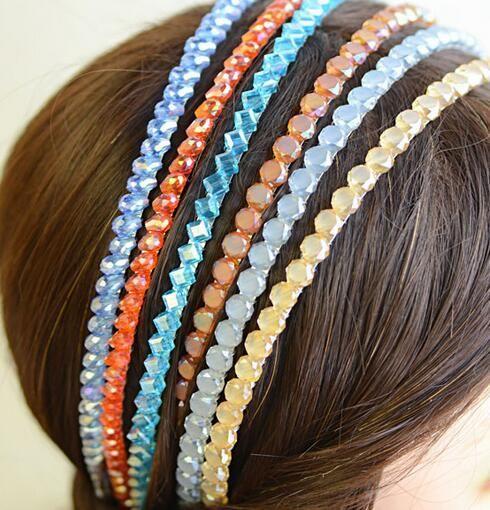 10 pz / lotto Mix Color 2 Fiw Crystal Hairband Hairband per capelli per gioielli moda regalo HJ026