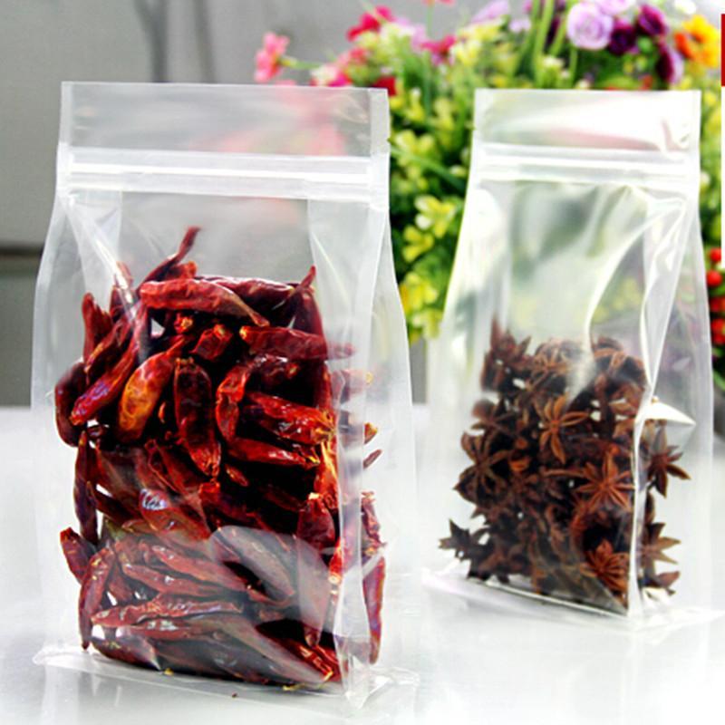 20cm * 30cm + 5cm PET organ Verpackungsbeutel hohe trasnparent Freizeit Nahrungsmittelverpackung Ventilsack Snack-Beutel 100pcs