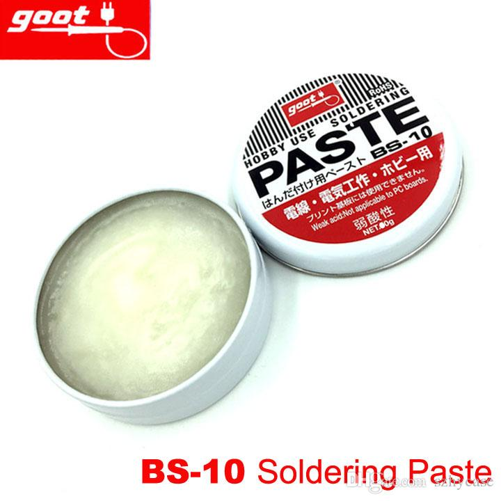 Original Japan GOOT marke BS-10 Hobby Verwenden Harz Lotpaste NW.10g Schwachsäure Schweißpulver