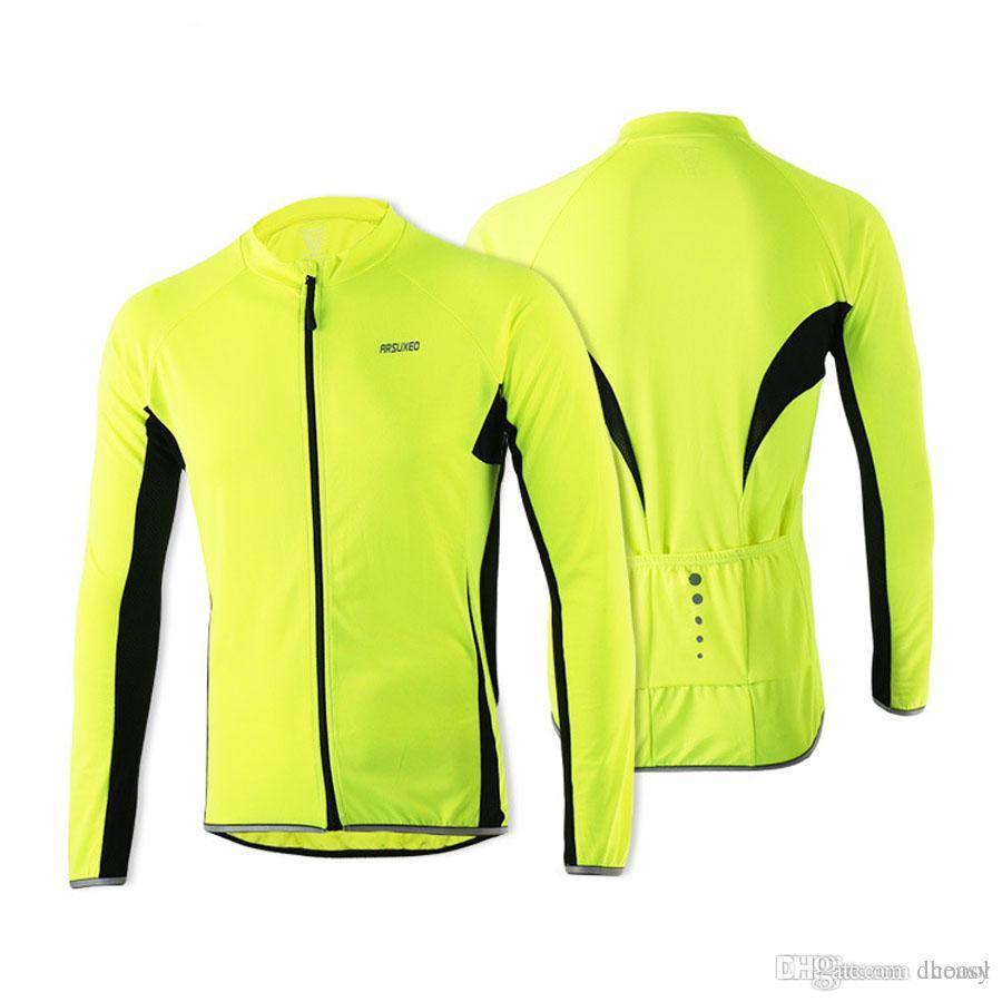 Arsuxeo 2016 erkek bisiklet formalar ilkbahar yaz açık spor mtb bisiklet bisiklet uzun kollu jersey bisiklet clothing gömlek giymek