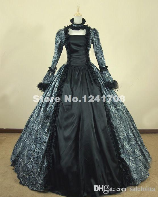 Vintage Victorian Gothic Cosplay Brocade Period Dress Victorian Ball Gown Prom Reenactment Theatre Clothing Steampunk Dresses