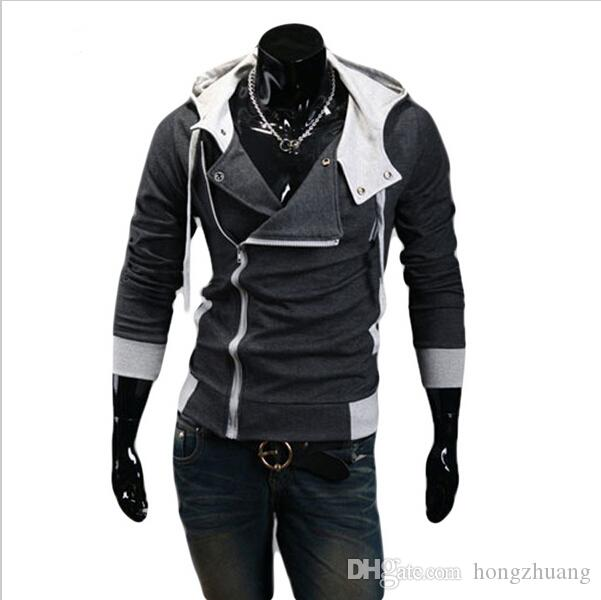 12 색 M-6XL 후드 티 남성 스웨터 남성 Tracksuit 후드 자켓 캐주얼 스포츠 남성 후드 자켓 스포츠 코트 moleton Assassins Creed
