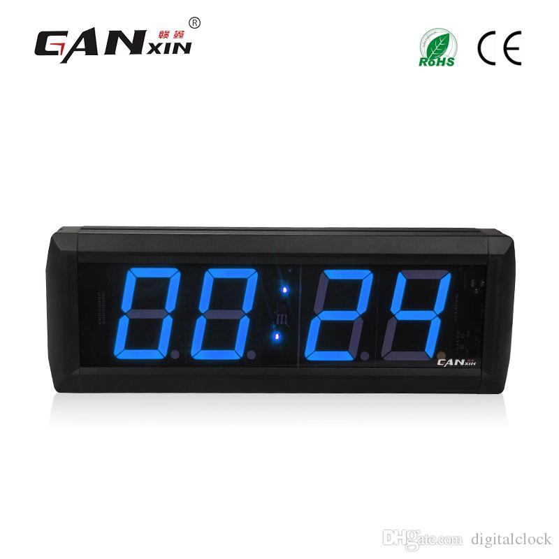 [Ganxin] 2.3 inch 4 Digits Blue Color LED Display 7 Segment Display Led Countdown Clock Digital Wall Clock Remote Control Timer