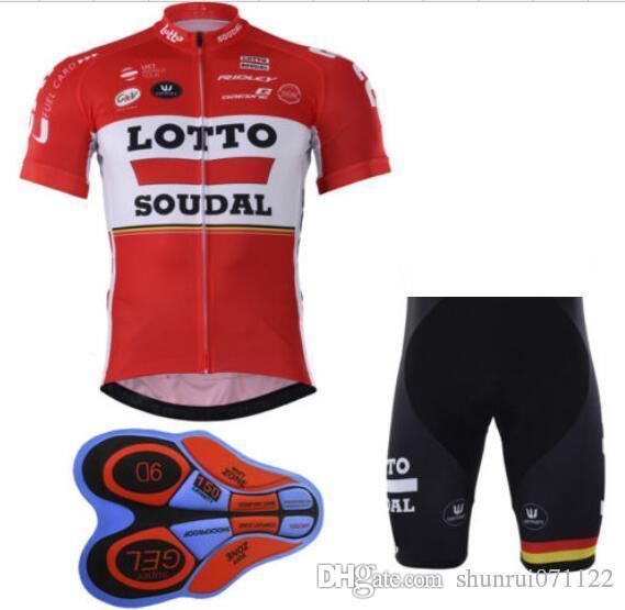 LOTTO Yarış Takım bisiklet giysileri Bisiklet Giyim Seti Erkekler Giyim Suit Jersey Önlük Şort mtb bisiklet giyim spor jersey bisiklet giysileri