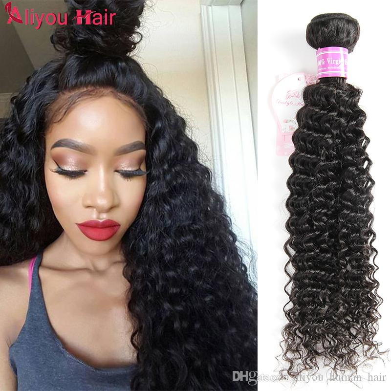 Fashion Hairstyles Brazilian Kinky Wet Wavy Curly Virgin Hair Bundle Deals Top Remy Kinky Curly Human Hair Extensions Premium Human Hair Weave Human