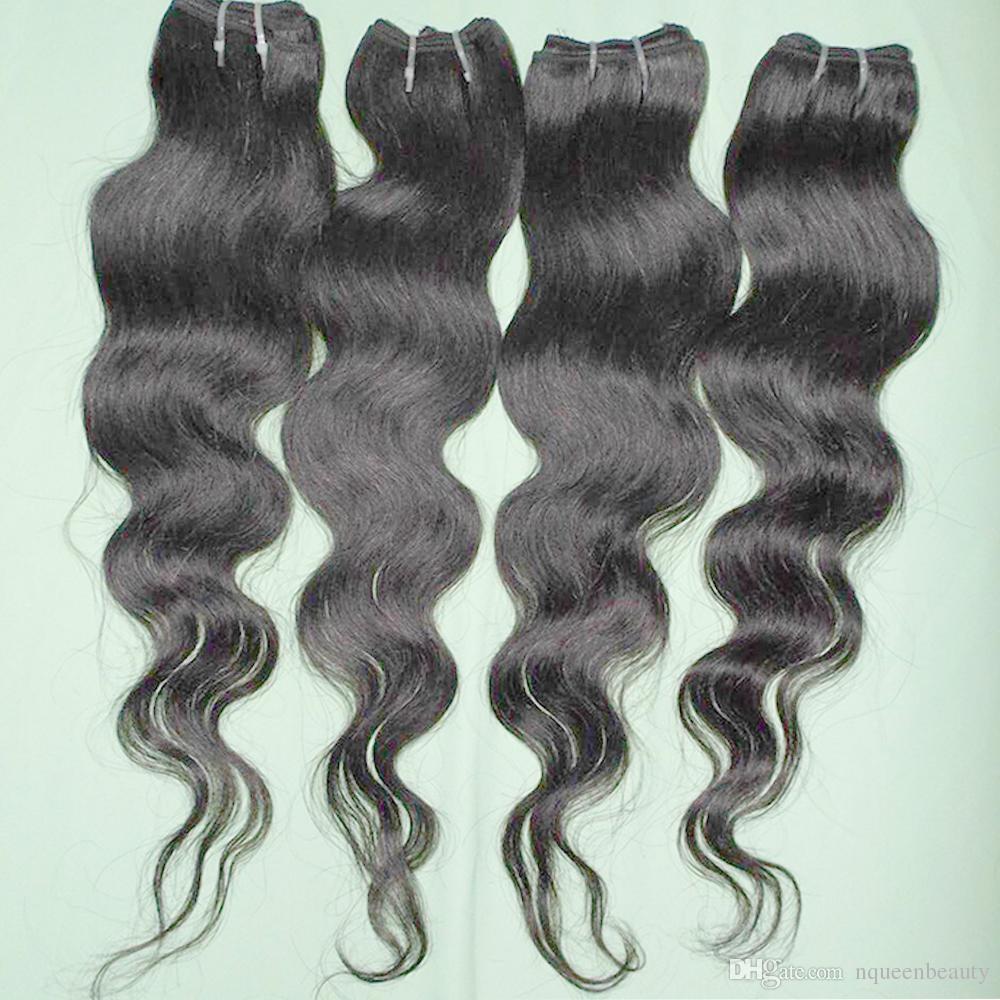 7A أرخص الشعر 4PCS / الكثير البرازيلي مائج تمديد المصنعة موجات الإنسان اللحمة الجسم DHGATE صفقة سريعة
