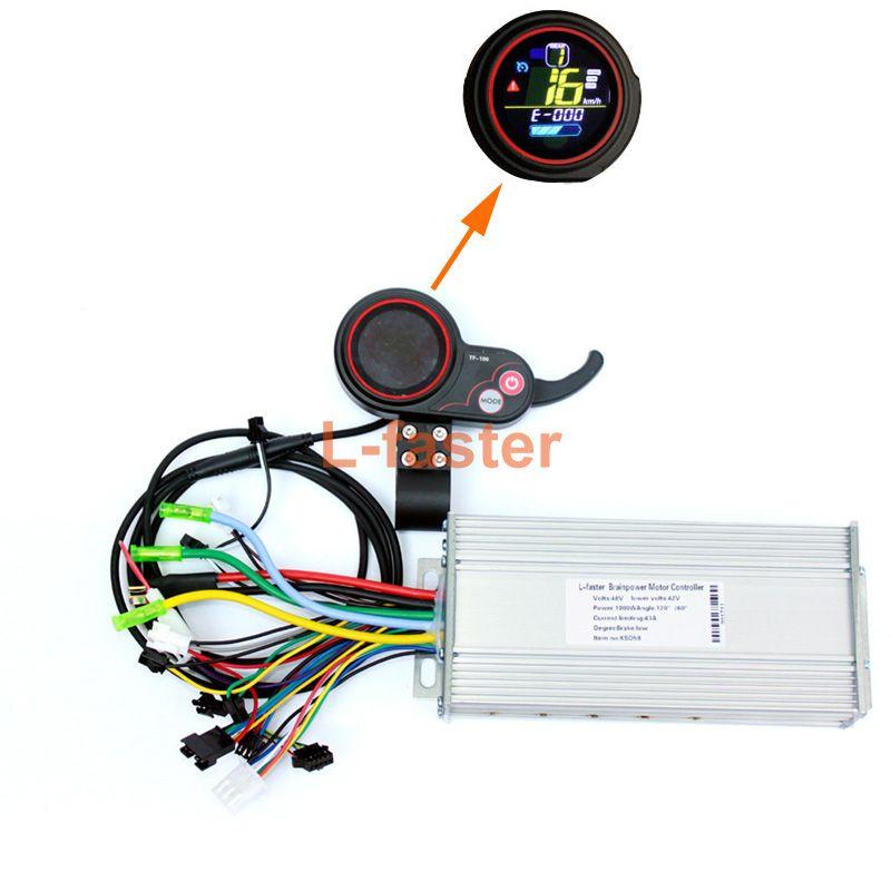 450 Watt ~ 1000 Watt Elektrische Fahrrad Daumen Gas LCD display Mit Controller 800 Watt Elektroroller Brushless Hub Motor Controller Set