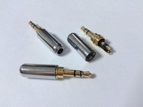 20PCS 3.5mm Stéréo Audio Mâle Connecteur Jack Connecteurs souder argent