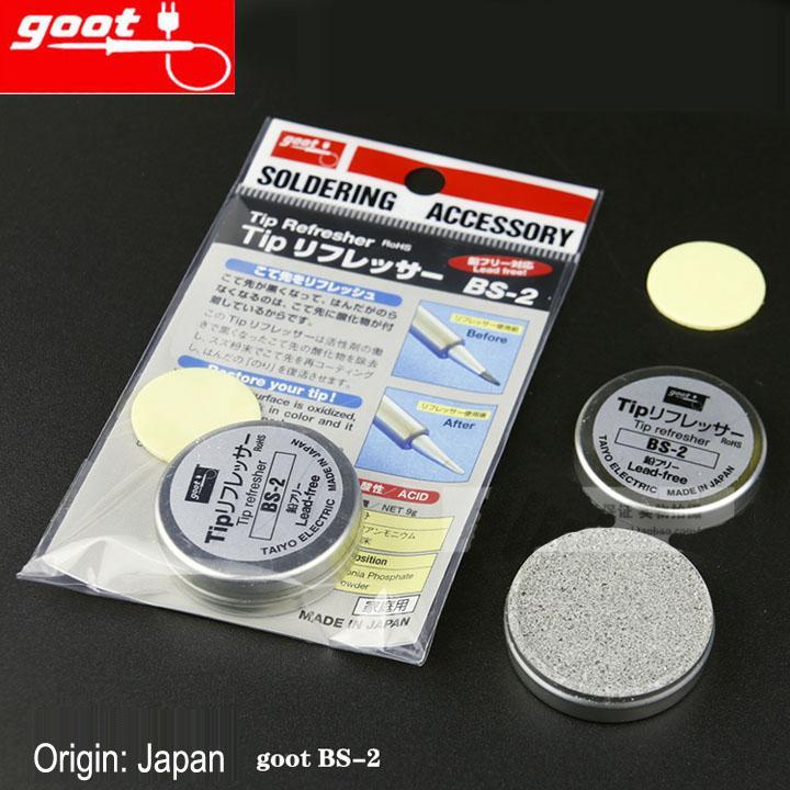 Japão GOOT marca BS-2 Ressurreição Creme Regeneração abrasivo de ponta de solda NW 9g RoHS Dica Refresher Clean Solder Iron Head