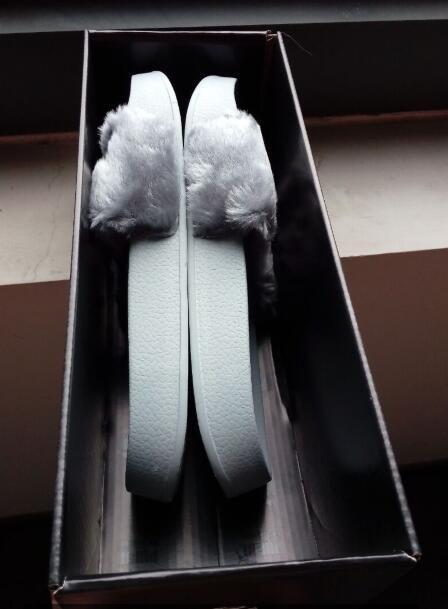 """rihanna fenty slippers fenty diapositivas rihanna fenty leadcat diapositivas de piel gris rosa blanco negro diapositiva interior sandalias enviar con BOX and DUST BAGS"