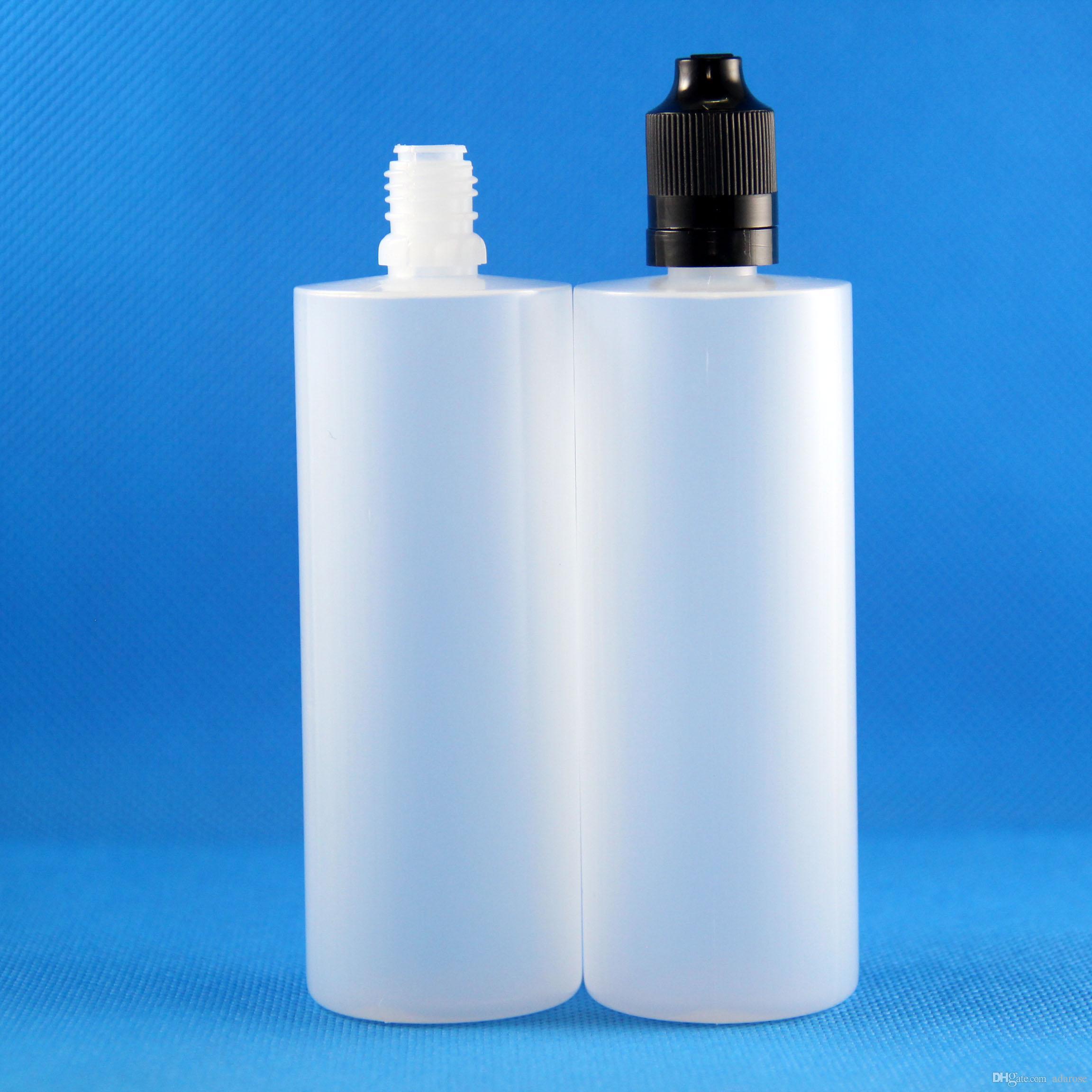 120 ml 100 parça LDPE plastik damlalıklı şişeler çift geçirmez kapaklar ile yarı saydam buhar sıkılabilir maç beyaz yeşil siyah renk kapak