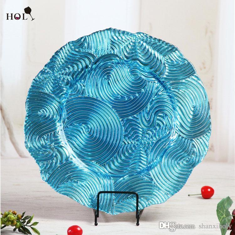 Großhandel Günstige China Hochzeit und Hotel Dekoration Glas Ladegerät Platte