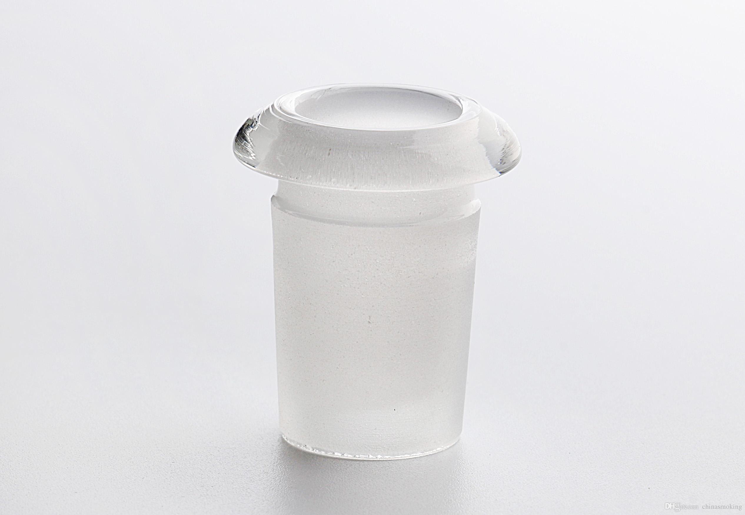Korte Glasadapter 14mm19mm Hoge Borosilicaat Glas Dorp Down 14mm Vrouw tot 19mm Mannelijk Adapter Hoog Borosilicaat Glas