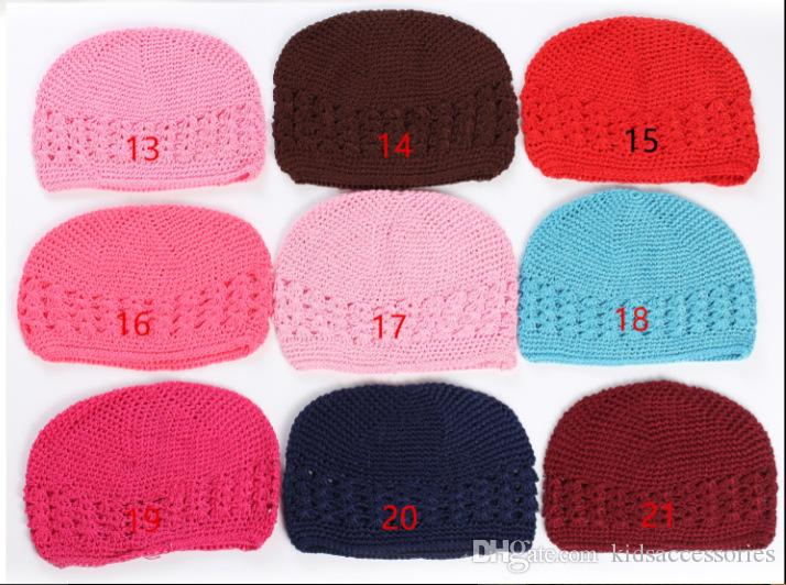 2018 Baby Kufi Hats Crochet Toddler Beanie Girls Boys Cotton Hat 3