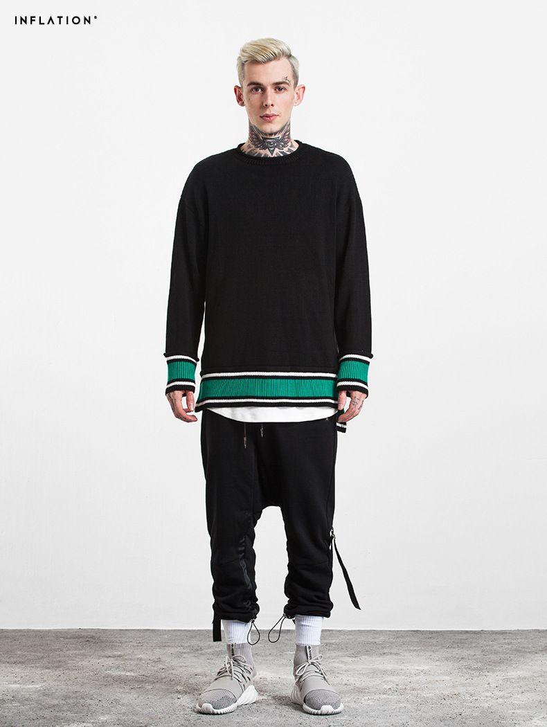 2017 Otoño Nuevo Suéter A Rayas Hombres Slim Fit Moda Casual Pullover Suéter de Punto de Alta Calidad MT017011
