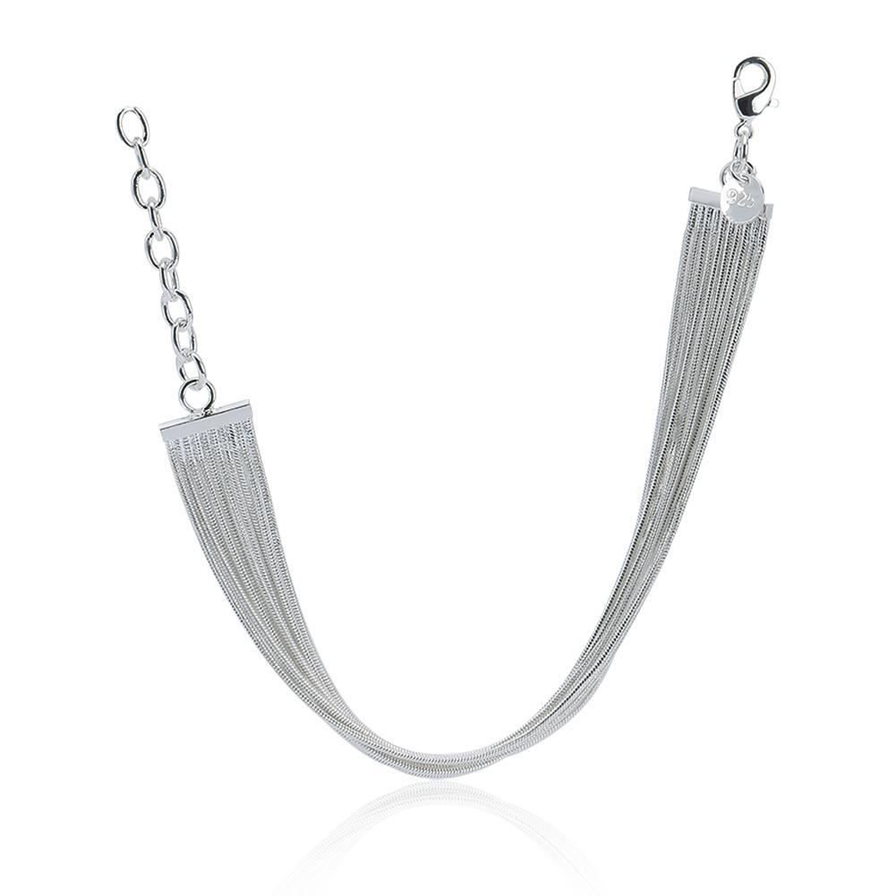 Venta al por mayor directa de la fábrica 925 pulsera de plata esterlina joyería de plata pequeño sauce Envío Gratis