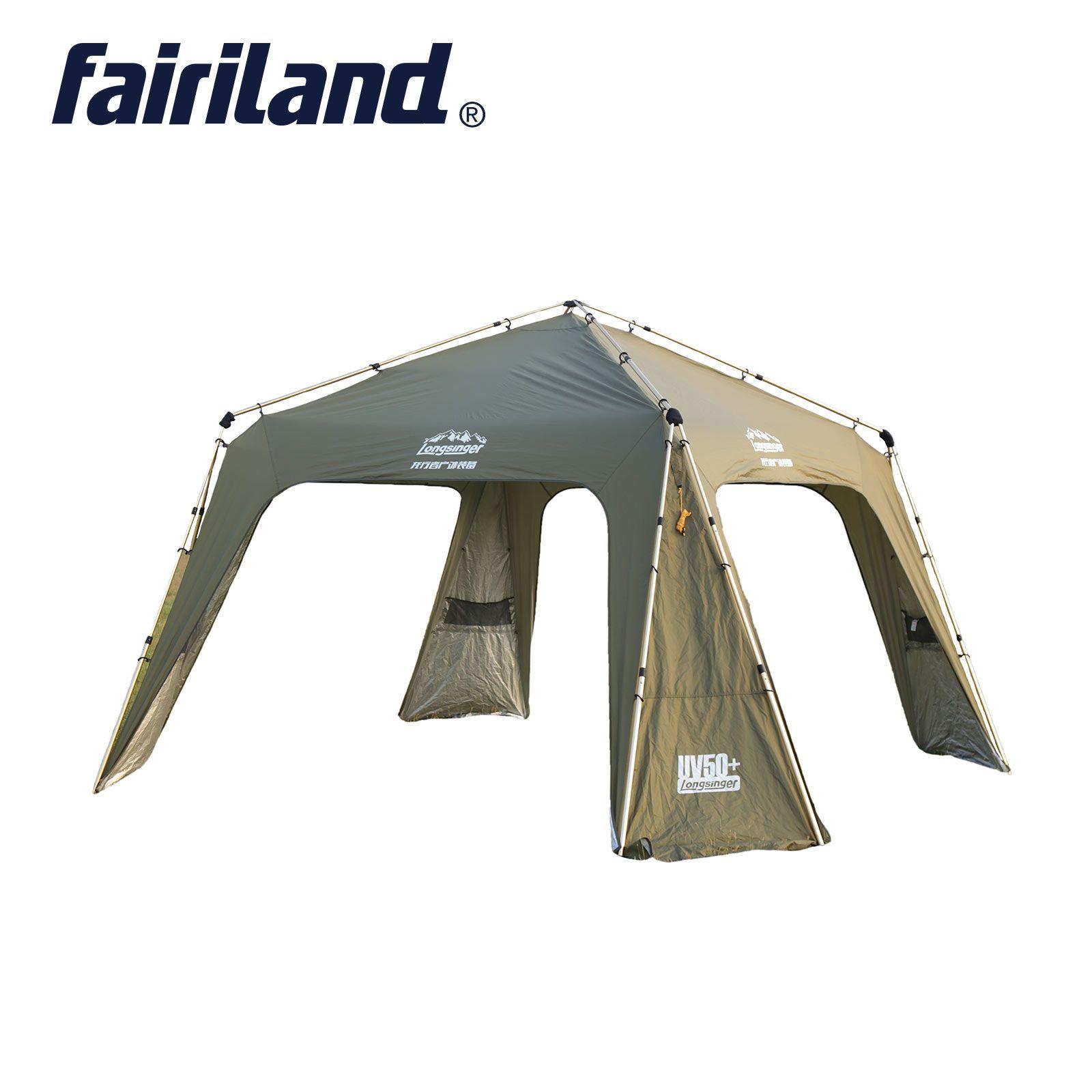 야외 럭셔리 ultralarge 보호소 캠핑 하이킹 여행 여행 파티 가족 인스턴트 빠른 열기 12 명 알루미늄 텐트 장막