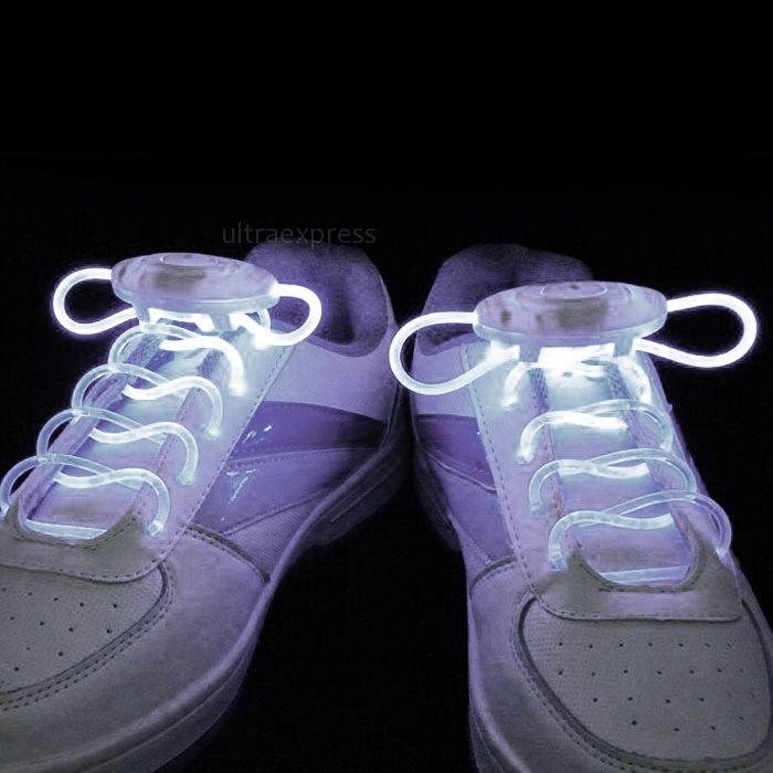 Cor EL atam Cordão Super Light EL Led atacadores de sapatos Shoe lLace luzes LED de fibra óptica
