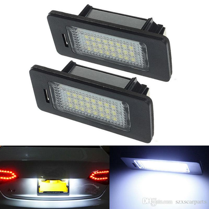 2 pezzi / Passat 5D R36 6000K Bianco LED Numero di Targa Luce lampade Posteriore per TT Q5 A4 S5 A5