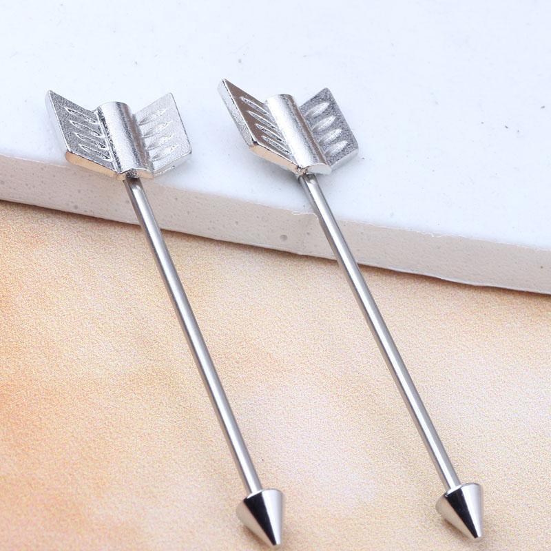 الفولاذ المقاوم للصدأ الجناح شريط طويل الصناعية الحديد بالجملة هيئة المجوهرات القرط شريط ثقب للمجوهرات أسلوب الشرير
