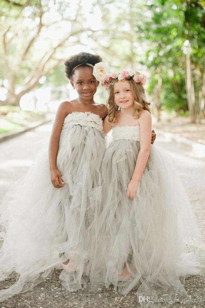Beautiful Toddler Pageant Dresses Sexy Strapless Handmade Flower Tulle Flower Girl Dresses 2017 Floor Length Pageant Dresses For Juniors