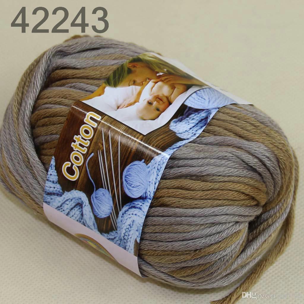 Серия 6 BallsX50g специальный толстый Камвольный 100% хлопок вязание пряжи серый Перу 2243