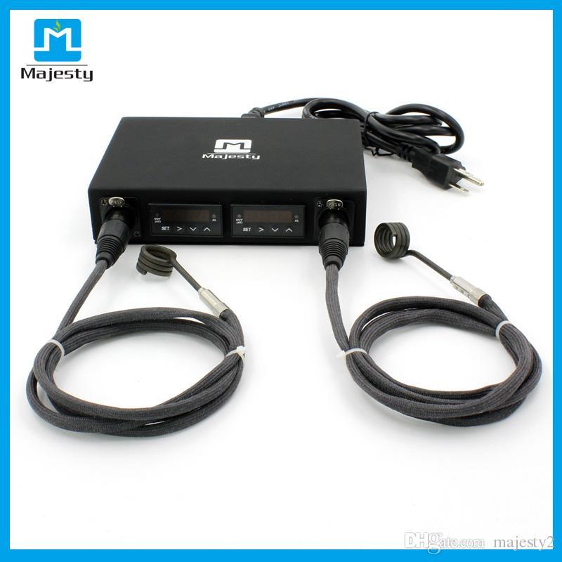 EUA ENAIL ENAIL Nova Chegada Dual Enail Box Kit Controlador de Temperatura Dnail Caixa Dnail com 2 pcs aquecedores de bobina DHL frete grátis ..