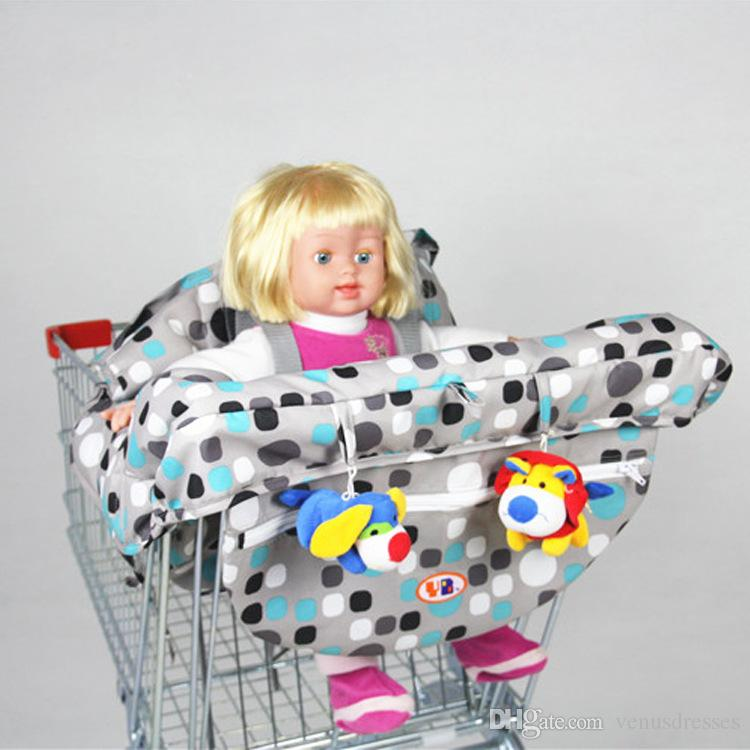New Baby shopping cart trolley cover infant car mats child portable high dining chair seat belts pad for feeding