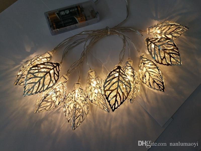 new products a0778 b7a56 1.6M 10 Led Leaf String Lights Battery Christmas Lights New Year Party  Wedding Home Decoration Fairy Lights Birthday Party Decorations Birthday  Party ...