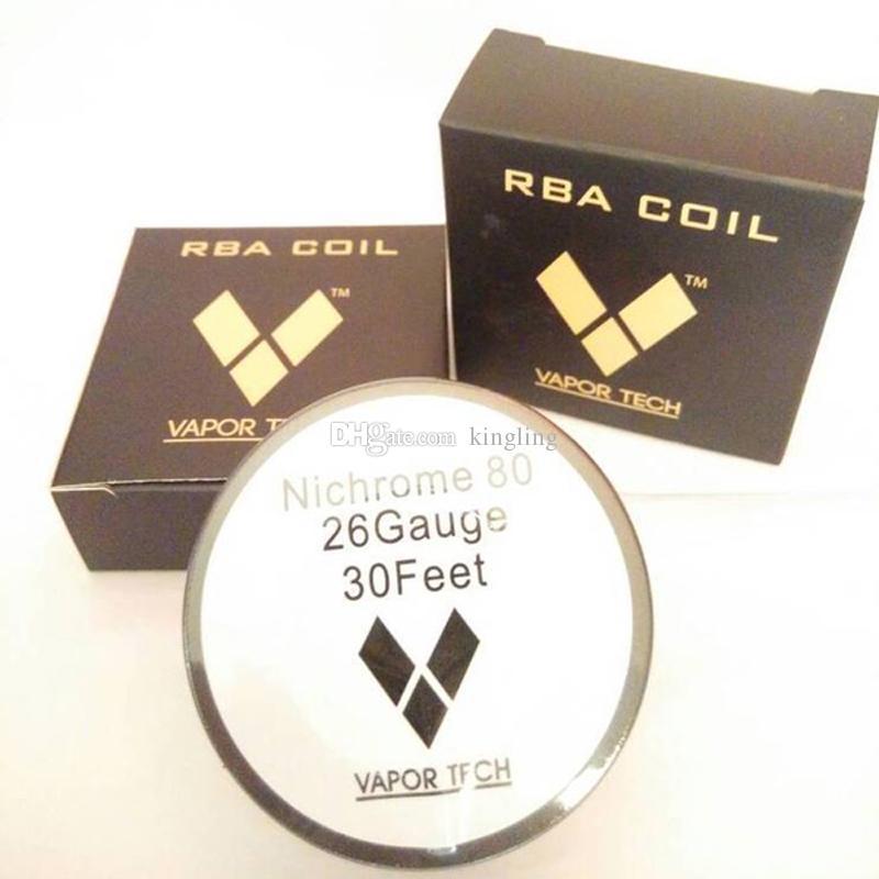 Filo riscaldante per sigaretta elettronica Nichrome 80 Ni 80 Ricostruisci fili RDA Vaportech NIchrome 80 Ecigs Resistance Nichrome 22 Gauge Coils Wire Spool
