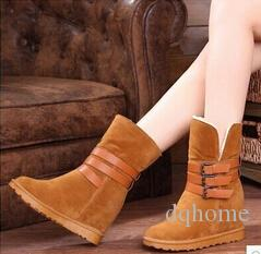 Nuovo stile autunno inverno pile stivali da neve donne all'aperto stivali zeppa scarpe sportive donne moda stivaletti