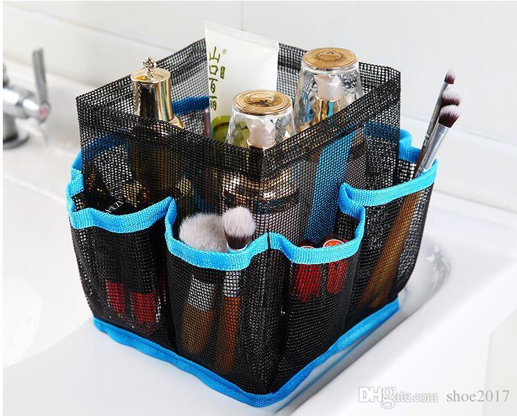 Новый творческий восемь сетка полиэстер складной настольный мешок для хранения сумка для хранения многофункциональный мешок для стирки