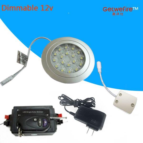 РФ Dimmable утопило установки DC 12 в 1.5 Вт светодиодные шайба/кабинет свет,светодиодный прожектор, Сид 18pcs 3528 светодиодные диммер разъем адаптера